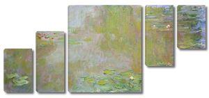 Моне Клод. Пруд с водяными лилиями, 1917 01