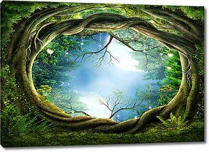 Окно в сказочный лес
