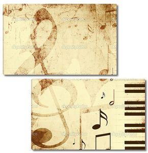 фон с Музыкальные символы