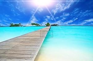 удивительный вид на океан на тропический остров