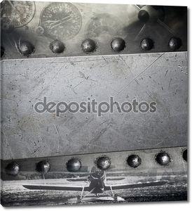 ретро Авиация, военные гранж-фон