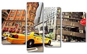 Желтые такси-такси в Нью-Йорке