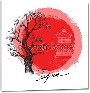Бамбук в Красное солнце