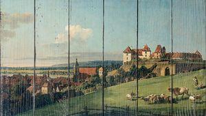 Беллотто Бернардо. Вид на г. Пирна с замка Зонненштайн