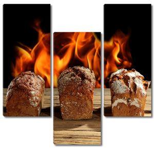 Три буханки различного хлеба