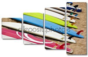 Красочные доски для серфинга