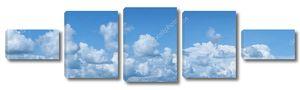 Панорама голубого облачного неба