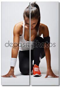 красивая женщина фитнеса