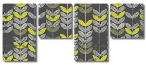 Орнамент из мелких листьев