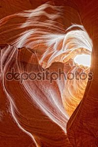 Вид на каньон антилопы сердечной формы