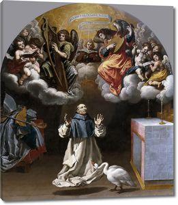 Кардучо Висенте. Видение святому Югу музыцирующих ангелов