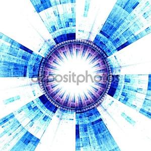 Синее абстрактное солнце