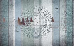 Абстракция с деревьями и горами