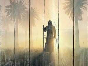 Блуждающих монах на рассвете