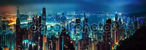 Панорама вечернего Гонконг