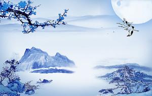 Журавли над синими горами