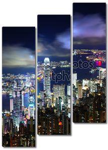 Город ночной Гонконг