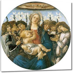 Боттичелли. Мадонна с восемью ангелами (тондо Рацинского)
