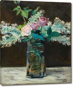 Эдуард Мане. Ваза с белыми лилиями и розами