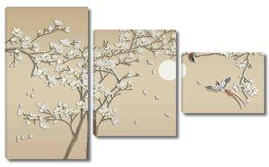 Птицы с сакурой