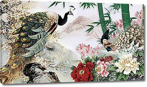 Павлины с бамбуком