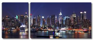 современный город ночная сцена