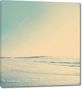 Пляж с винтажным фильтром