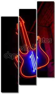 Красный Неон гитара