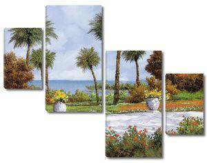 Живописная дорога с видом на залив