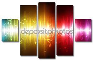 Светящиеся музыкальные ноты