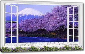 Вид из окна на Фудзи