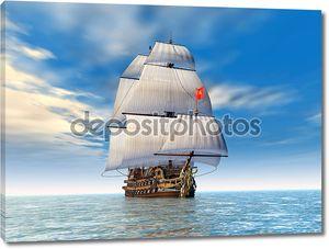 Военный корабль 18 века