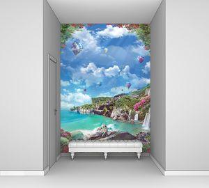 Итальянское побережье с воздушными шарами