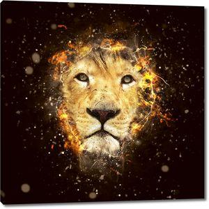 концептуальный портрет льва
