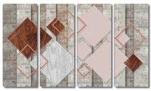 Вертикальные полосы, деревянные разноцветные ромбы