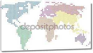 красочная мировая карта