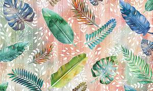 Орнамент из разноцветных листьев