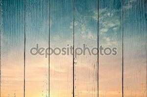 Красочный закат, небо