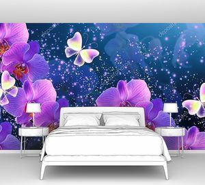 Орхидеи с волшебными бабочками