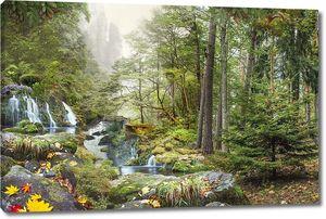Водопад у леса