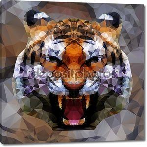 Голова тигра треугольников