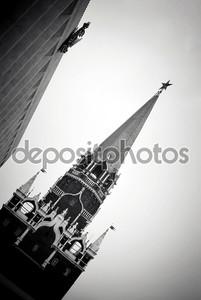 Черно-белое фото Кремля