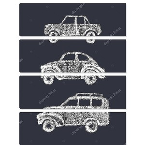 Ретро автомобили Рисование