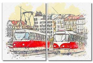 Трамвай Праги .