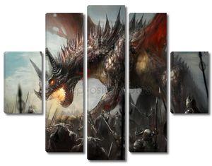 Дракон с пламенем