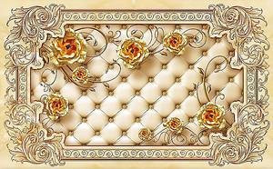 Стяжка с золотыми розами