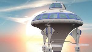 3D иллюстрация космического корабля