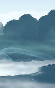 Тени в форме гор над рекой