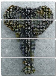 Слон пикселями
