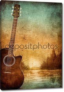 Старая структура с гитарой